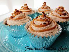 Raw Sweet Potato Maple Chipotle Caramel Cupcakes from Fragrant Vanilla Cake