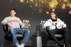 Lionel Messi and Cristiano Ronaldo shared the stage but there was a frosty atmosphere in Zurich