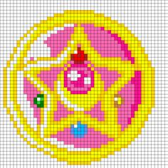 Crystal Star Perler Bead Pattern | Bead Sprites | Misc Fuse Bead Patterns