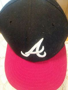 4c1a7457fd2 Ball Cap Hat New Era Atlanta Braves Wool 59Fifty Fitted 7 3 4