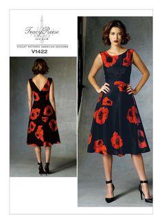 V Dress, Miss Dress, V Neck Dress, Tracy Reese, Dress Sewing Patterns, Vintage Sewing Patterns, Clothing Patterns, Dress Pattern Free, Vogue Patterns