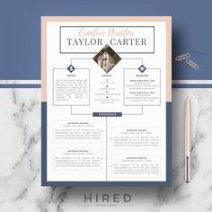 Resume infographic : CV design Creative CV resume template ms Word & Pages - Resumes. Modern Cv Template, Cv Resume Template, Creative Resume Templates, Creative Resume Design, Design Resume, Cv Original Design, Cv Digital, Conception Cv, Cv Curriculum Vitae