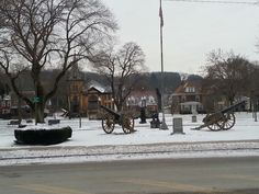 This is a small park in downtown Punxsutawney.