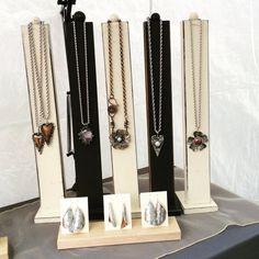 Tall Slim Line Wood Necklace Jewelry Display - 24 Luxury Diy Jewelry Display Ideas Wood Jewelry Display, Jewelry Display Stands, Jewelry Hanger, Necklace Display, Wood Display, Jewelry Tree, Jewelry Stand, Wooden Jewelry, Jewellery Storage