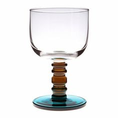 Marimekko Socks Rolled Down Clear / Smoke / Turquoise Goblet - Click to enlarge