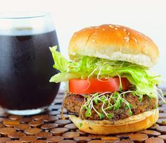 vegan Tempeh and Black Bean Veggie burger is made with organic 3 grain tempeh and black beans Quick easy and ready in less than an hour Burger beanThis vegan Tempeh and B. Black Bean Burgers, Black Bean Veggie Burger, Vegetarian Freezer Meals, Vegan Vegetarian, Vegetarian Recipes, Healthy Recipes, Vegetarian Burgers, Vegetarian Sandwiches, Meat Meals