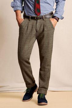 Men s Elston Pleated Wool Pants from Lands  End 30.00 Wool Pants a8c3794fd97c