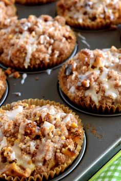 A blissfully tart muffin with just the right amount of sweet; Glazed Streusel Rhubarb Muffins consists of fresh rhubarb, walnuts, a crumb topping, and a gentle glazed drizzle. I'm not a fan of summer – the heat and… Rhubarb Oatmeal, Blueberry Rhubarb, Blueberry Recipes, Apple Rhubarb Recipes, Rhubarb Cookies, Rhubarb Muffins, Rhubarb Desserts, Light Desserts, Just Desserts
