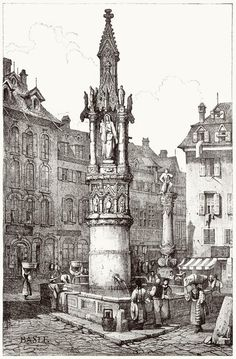 Samuel Prout, from Sketches by Samuel Prout, by Charles Holme, London, Building Sketch, Building Art, Perspective Drawing, Black And White Illustration, Amazing Drawings, Architecture Drawings, Urban Sketching, Marker Art, Architectural Elements