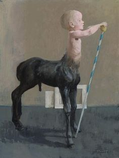 Centaur veulen (Centaur Foal), 2003 by Pieter Pander on Curiator, the world's biggest collaborative art collection. Satyr, Centaur, Man Beast, Weird Art, Strange Art, Forest Decor, Digital Museum, Collaborative Art, Dutch Artists