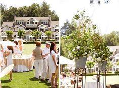 Beautiful outdoor brunch wedding with a khaki & white dress code