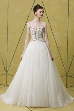 Badgley Mischka, 2014 | not my dream gown but it looks pretty good on the model