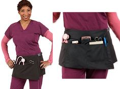 Nurses tool belt... totally geeky, but wouldn't it be nice not to have your pants falling down all the time cause you got so much extra stuff in your pockets?! :)