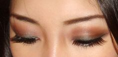 * MAC Club Eyeshadow on eyelid and lower eye  * MAC Haux Eyeshadow on crease  * MAC White Wheat Eyeshadow on brow bone