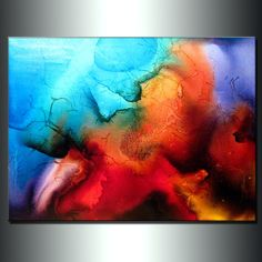 Abstract ArtHuge Abstract Painting Original by newwaveartgallery