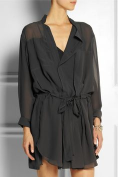 Isabel Marant | Carla silk-georgette mini dress | NET-A-PORTER.COM