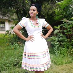 Short African Dresses, African Print Dresses, African Print Fashion, African Fashion Dresses, African Outfits, African Clothes, Pedi Traditional Attire, Sepedi Traditional Dresses, South African Traditional Dresses
