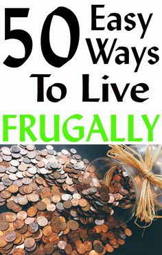 50 Easy ways to live frugally daily, weekly and monthly activities. Most of them are very simple to do. Remember every dollar counts. Ways To Save Money, Money Tips, Money Saving Tips, How To Make Money, Money Hacks, Gardening For Beginners, Gardening Tips, Vegetable Gardening, Frugal Living Tips