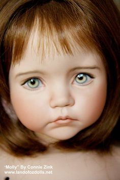 """""""Molly"""" by Connie Zink - Land of Oz Dolls: Made from a Dianna Effner """"Expressions"""" mold. Modern Dolls With Painted Eyes"""