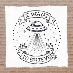 Tattoo I want to believe by inzanita on DeviantArt