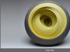 Circular Ceramic Sculptures by Matthew Chambers