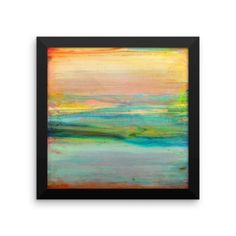 Minimalist Art - Abstract Sky and Clouds - Framed Art Print