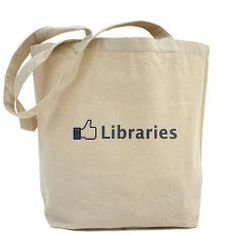 """""""Like"""" Libraries Tote Bag by Library Advocacy $15.59"""