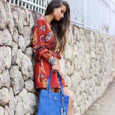 ;) Estampas coloridas dão vida a looks da primavera/verão. Quanto mais informação, melhor! #Tenda, a sua moda.