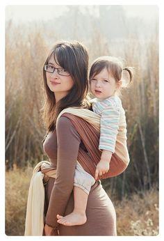 Natibaby Kalahari with wool 6 #babywearing #sling // love this color!!