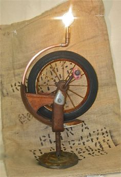 Really Rusty Trusty Tricycle Lamp by electricheirlooms on Etsy, $400.00