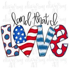 Love Png, Love Doodles, Doodle Lettering, Patriotic Decorations, Patriotic Crafts, Patriotic Shirts, July Crafts, Thing 1, Baseball