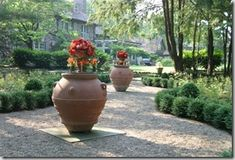20122_0_4 Formal Gardens, Outdoor Gardens, Container Plants, Container Gardening, Planter Table, Planters, Garden Whimsy, Traditional Landscape, Custom Glass