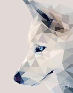 Winter, the Wolf art print by Liviathaine.