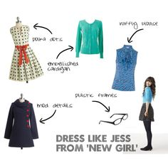 Zooey Deschanel's style is channeled into her 'New Girl' character Jess Day. Who doesn't love girly details like polka dots and ruffles?