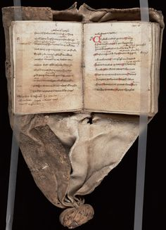 15th C. Girdle Book, property of the Yale Library Collection, Beinecke Library Exhibition. A stunning example of a manuscript, produced on vellum, that was made to hang from the wearer's waist, there to be read frequently. All rights retained by Yale University.