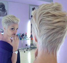 Beautifully cut short hair