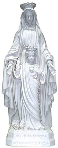 Amazon.com: Blessed Virgin Mother Mary of The Sacred Heart of Jesus Christ Catholic White Outdoor Garden 15 Inch Statue: Home & Kitchen Heart Of Jesus, Catholic Gifts, Mother Mary, Sacred Heart, Jesus Christ, Blessed, Statue, Amazon, Garden