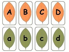 Fall Leaves Alphabet Matching Literacy Center {FREEBIE}