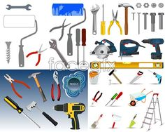 Common hardware tools Vector
