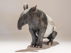 Malayan Tapir in Raku-fired Ceramic by Nick Mackman