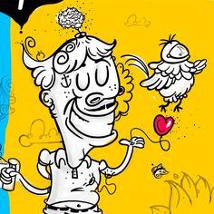 O início de um trabalho pede três coisas: cérebro, coração e asas. #illustration #art