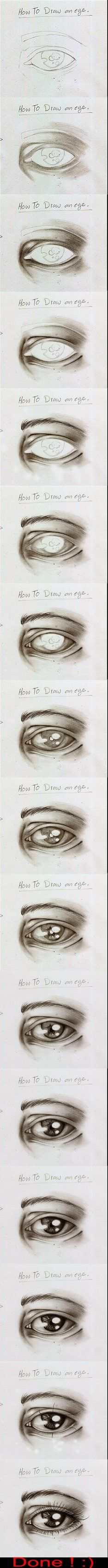 How To Draw an Eye by ~Simiko on deviantART (simple faces to draw)