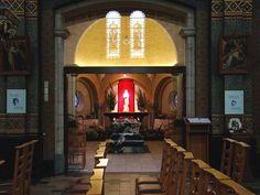 graf van de zalige Broeder Isidoor. Kortrijk, Passionistenklooster, St. Antoniuskerk