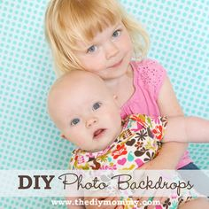 Make DIY Photo Backdrops with Fabric or Paper