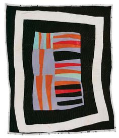 Loretta Pettway, born 1942. Medallion, ca. 1960, synthetic knit and cotton sacking material, 87 x 70 inches.