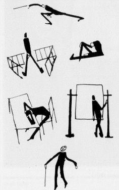Franz Kafka drawings  from Der Prozess, I think (good novel)