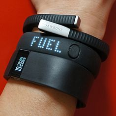fitness trackers: fitbit force + nike fuelband + jawbone up