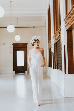 85390af773c This cool bridal jumpsuit may make you reconsider a courthouse wedding