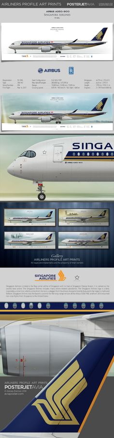 Airbus A350-900 Singapore Airlines | Airliner Profile Art Prints | #posterjetavia #aviation #aviationlovers #jetliner #jet #airplane #avgeek #airport #airlineposter #airline #pilotlife #pilot #pilotwife #planes #cabincrew #airbus350 #a350xwb #airbuslovers #airbuspilot #airbuscrew Best Airlines, Cargo Airlines, Boeing 777 300, Air Photo, Liner, Commercial Aircraft, Aeroplanes, Airports, Spacecraft