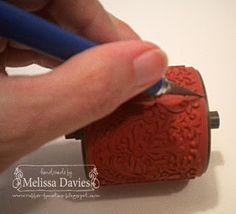 Making a stampin wheel into a cling mount stamp.